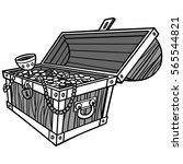 treasure chest illustration | Shutterstock .eps vector #565544821