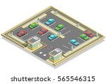 parking zone isometric location ... | Shutterstock .eps vector #565546315