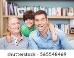 portrait of happy multi... | Shutterstock . vector #565548469