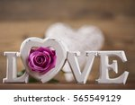 valentine's day concept  heart... | Shutterstock . vector #565549129