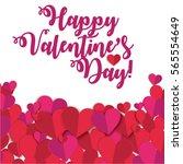 happy valentine's day vector...   Shutterstock .eps vector #565554649