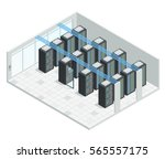 datacenter server cloud... | Shutterstock .eps vector #565557175