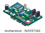semiconductor electronic... | Shutterstock .eps vector #565557181