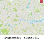 vector color map of  london ... | Shutterstock .eps vector #565558417