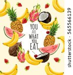 you are what you eat  ... | Shutterstock .eps vector #565566139