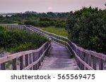Small photo of Passageway. Boardwalk. Back Bay National Wildlife Refuge. Virginia Beach. Virginia