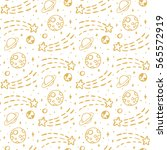 seamless pattern with gold... | Shutterstock .eps vector #565572919