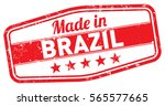 made in brazil stamp | Shutterstock .eps vector #565577665
