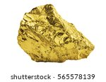 big golden nugget isolated on... | Shutterstock . vector #565578139