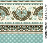 floral seamless pattern. ethnic ... | Shutterstock .eps vector #565578679