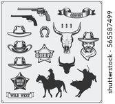 wild west. set of rodeo ...   Shutterstock .eps vector #565587499