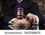 courtroom  judge  male judge in ... | Shutterstock . vector #565588819