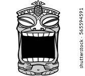 tiki mouth illustration | Shutterstock .eps vector #565594591