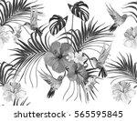 beautiful seamless vector... | Shutterstock .eps vector #565595845