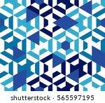 seamless pattern of geometric... | Shutterstock .eps vector #565597195