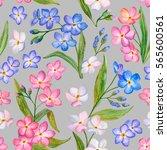 seamless pattern  watercolor... | Shutterstock . vector #565600561