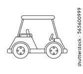 golf club cart icon | Shutterstock .eps vector #565600999