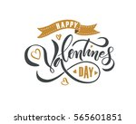 hand drawn valentines day text... | Shutterstock .eps vector #565601851