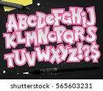 vector graphic typography set.... | Shutterstock .eps vector #565603231