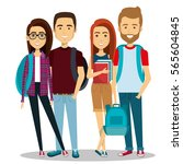 young people group avatars... | Shutterstock .eps vector #565604845