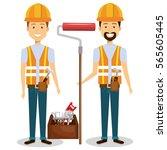 builders group avatars... | Shutterstock .eps vector #565605445