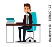 businessman character avatar... | Shutterstock .eps vector #565607425
