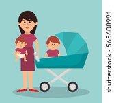 cute family members group | Shutterstock .eps vector #565608991