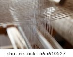 Closeup Of Threads In A Loom...