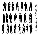 silhouette of business people... | Shutterstock . vector #56561158