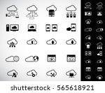 cloud computing icon set.... | Shutterstock .eps vector #565618921
