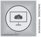 curved monitor with image of... | Shutterstock .eps vector #565619641