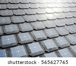 solar panel integrates into the ... | Shutterstock . vector #565627765