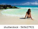 attractive young caucasian...   Shutterstock . vector #565627921
