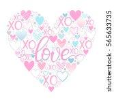 love   hand painted lettering...   Shutterstock .eps vector #565633735