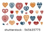 hosiery heart  crafts... | Shutterstock .eps vector #565635775