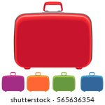 five different color suitcases.  | Shutterstock .eps vector #565636354
