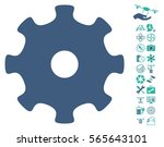 gear pictograph with bonus uav... | Shutterstock .eps vector #565643101