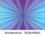 Violet Rays Pop Art Background...