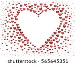 the composition of red hearts.... | Shutterstock .eps vector #565645351