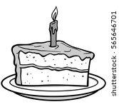 slice of cake illustration | Shutterstock .eps vector #565646701
