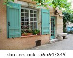 Window With Shutters And Door...