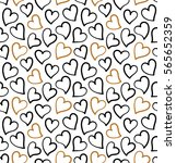 hearts background. seamless... | Shutterstock .eps vector #565652359