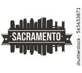 sacramento skyline stamp... | Shutterstock .eps vector #565653871