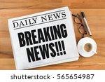 breaking news      Shutterstock . vector #565654987