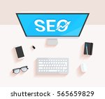 search engine optimization seo... | Shutterstock .eps vector #565659829