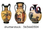 ancient greek vase isolated on...   Shutterstock . vector #565660504