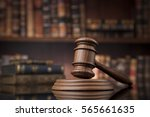 law theme  mallet of the judge  ... | Shutterstock . vector #565661635