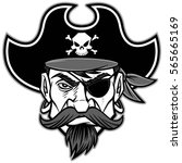pirate mascot illustration   Shutterstock .eps vector #565665169