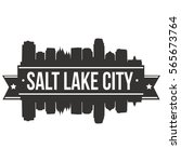 salt lake city skyline stamp... | Shutterstock .eps vector #565673764