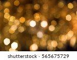 christmas holiday lights bokeh... | Shutterstock . vector #565675729